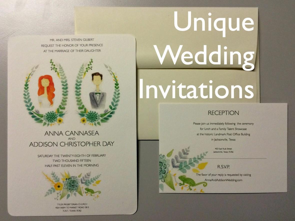 Unique Wedding Invites