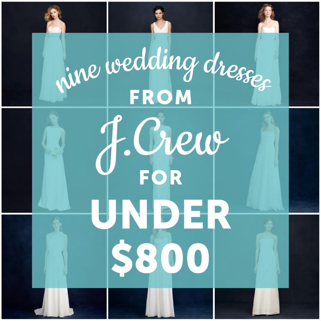 jcrew wedding dresses