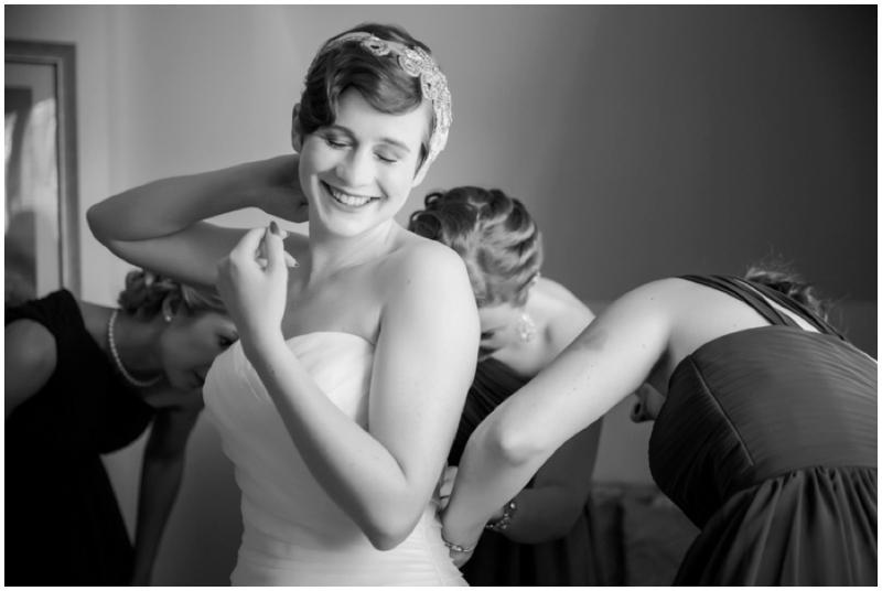 retro inspired bride