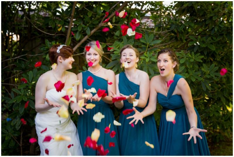 retro inspired bridesmaids