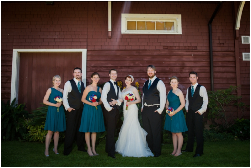 retro inspired bridal party