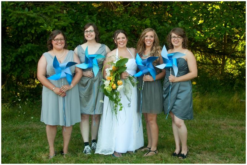 Rustic Barn Wedding bridesmaids