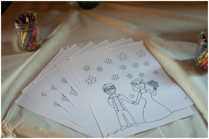 wedding coloring page