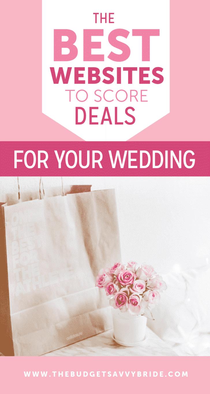 best websites to score deals for your wedding
