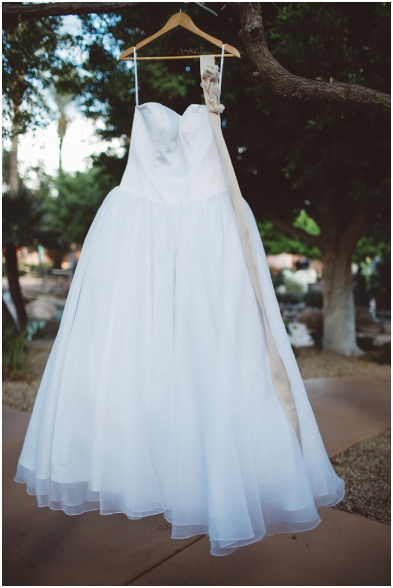 borrowed wedding dress