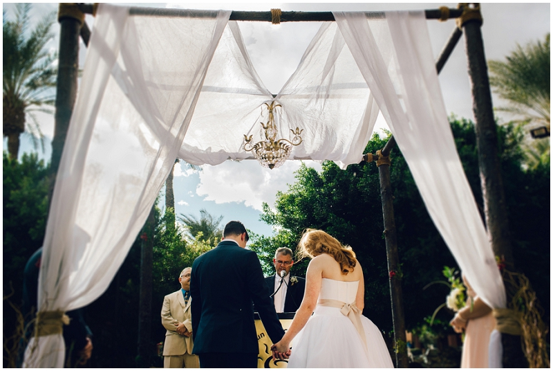outdoor ceremony altar