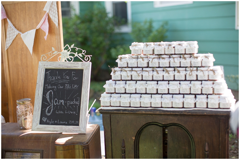 canned jam wedding favor