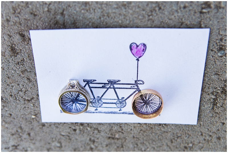 tandem bike card and rigns