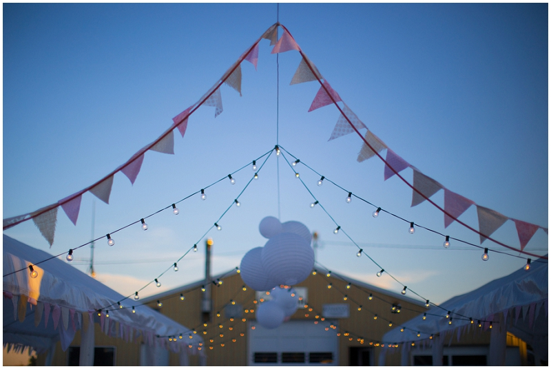 bunting, lanterns and lights