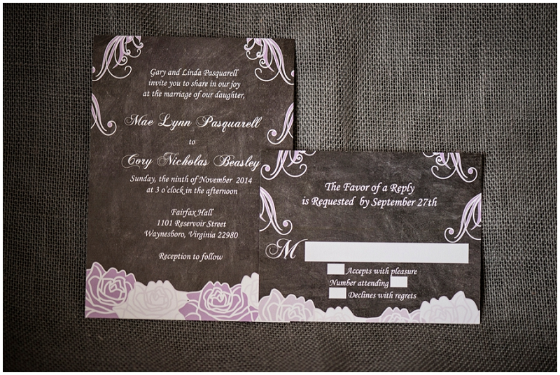 lavender and gray invitation