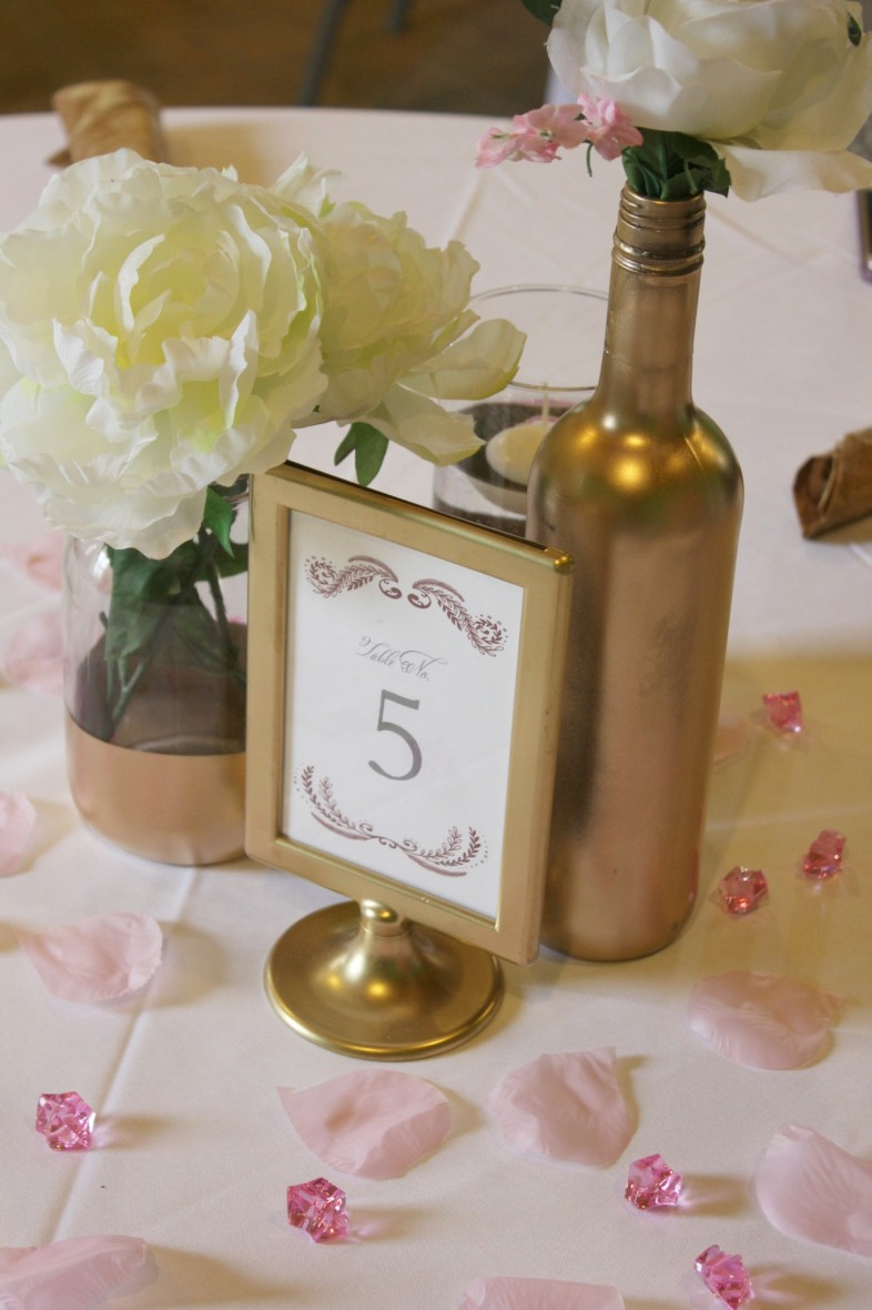 Diy pink and gold bridal shower the budget savvy bride the bride was extremely happy with how everything turned out and all of the guests enjoyed their morning mimosa along with some candy reviewsmspy