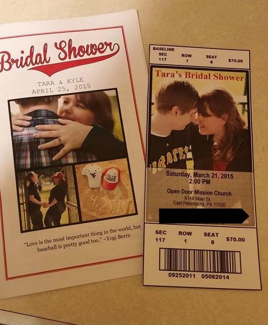 baseball themed bridal shower 11134358_10153148193945734_780630201_n