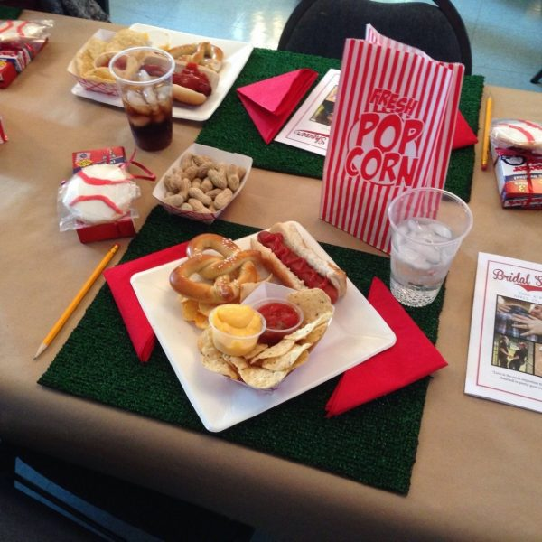 Even the food was ballpark themed!