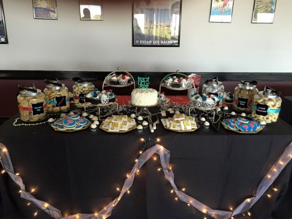 Our dessert table, ready to be devoured!