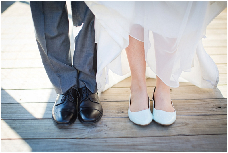 bride and groom shoes