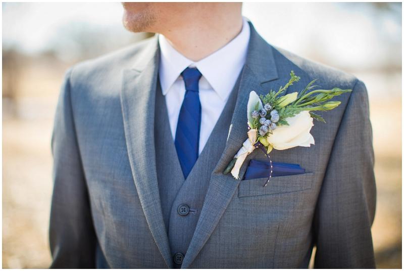 gray and navy groom attire
