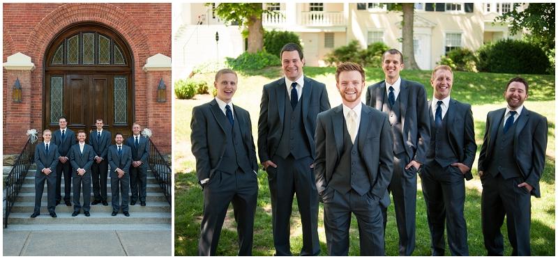 gray and navy  groomsmen