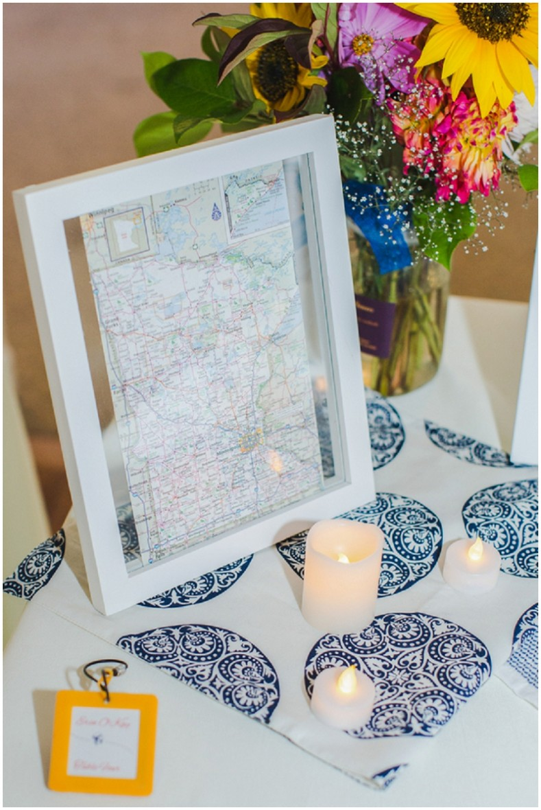 travel-theme wedding decor