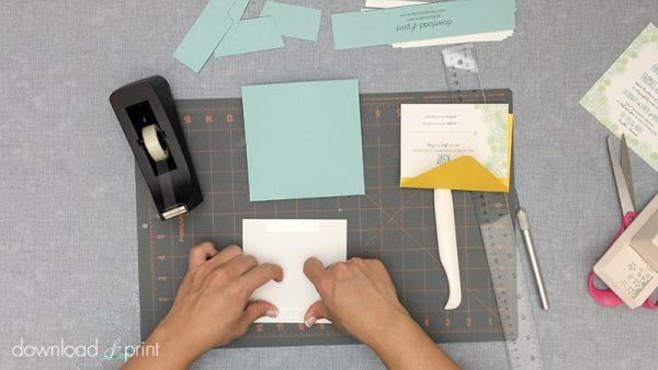 Download-and-Print-Daisy-Pocketfold-Tutorial-11-Tape-Invitation