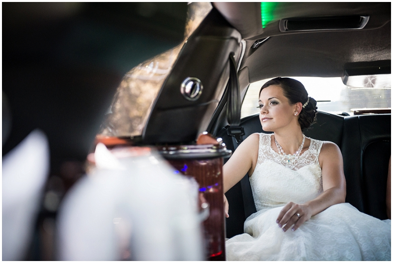 bride limo ride