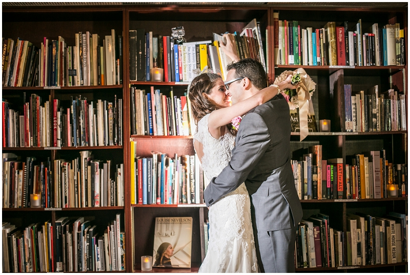 wedding bookstore photos