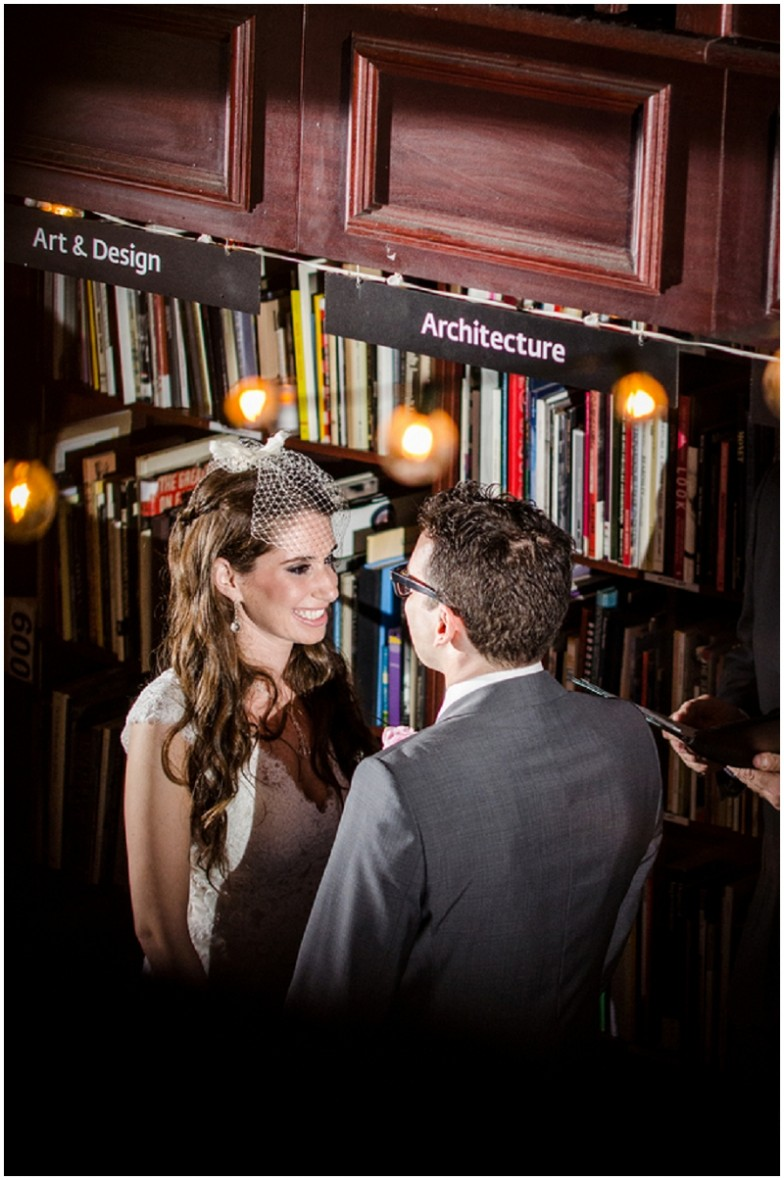 bookstore wedding ceremony