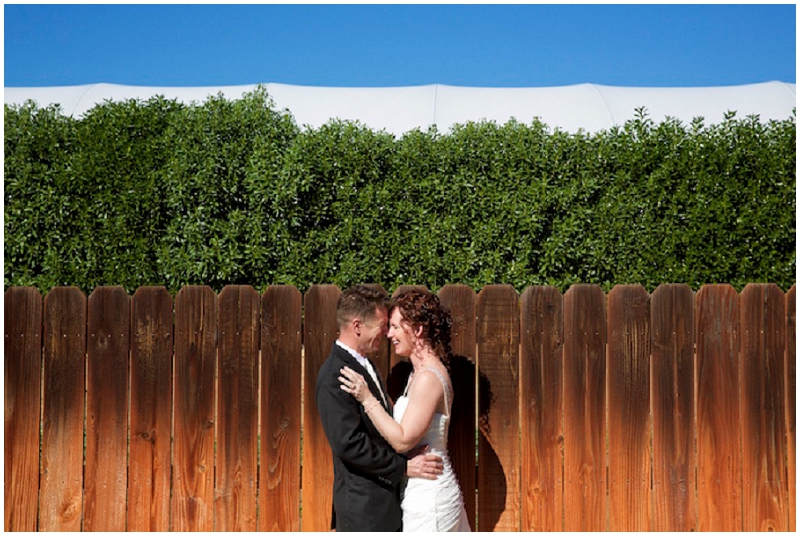 fence wedding bridal photos