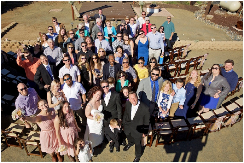 wedding guest group photo