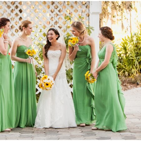 green and yellow wedding