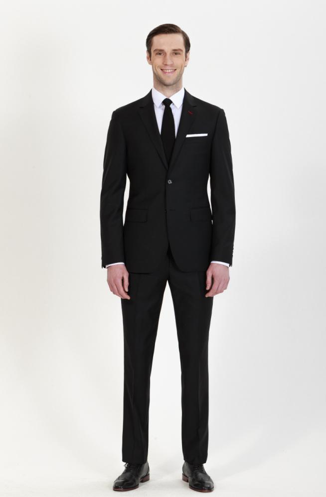 custom black suit