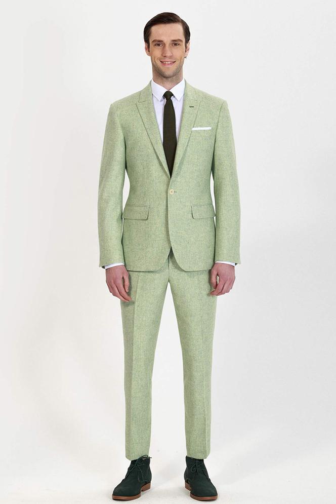 custom green spring suit