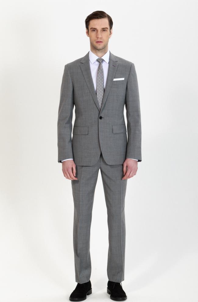 custom grey business suit