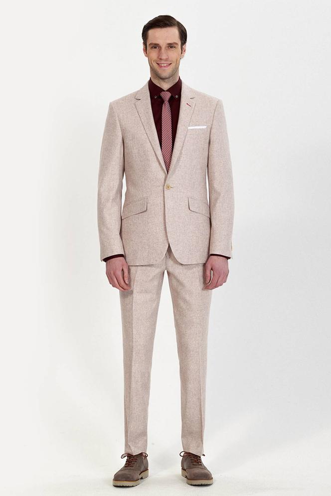 custom khaki suit