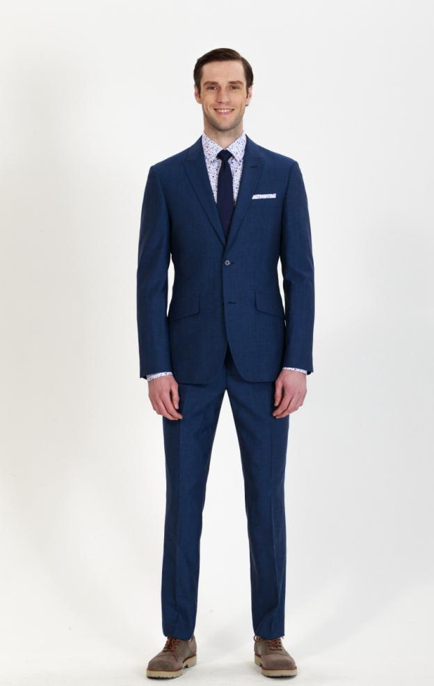 custom stylish blue suit