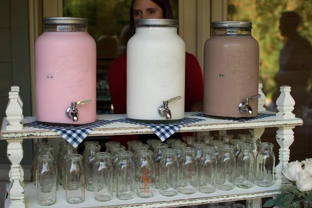 milk jugs wedding