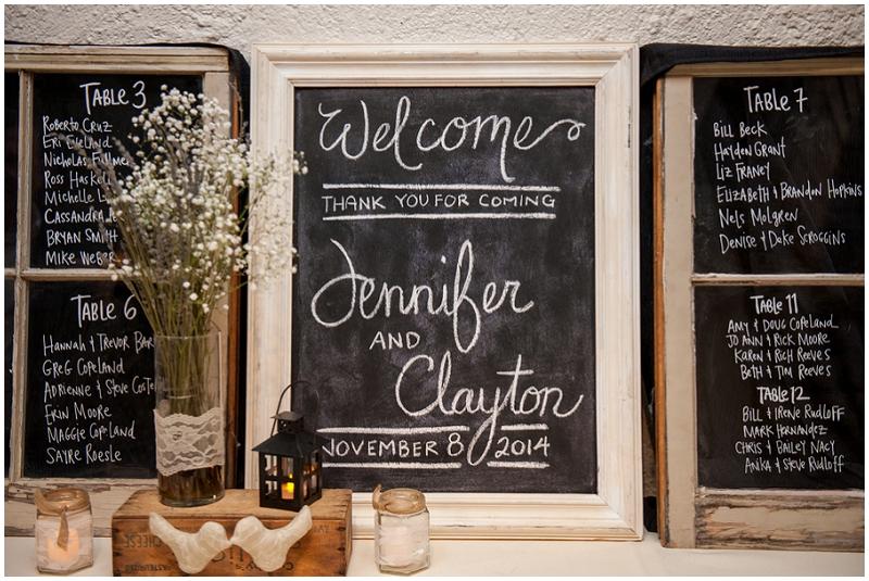 chalkboard reception signs