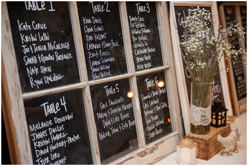 chalkboard table seating chart