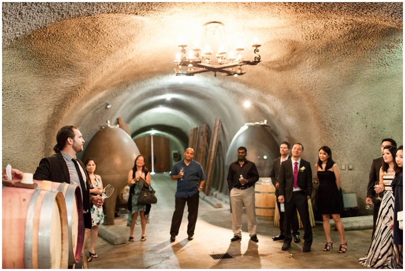 Vineyard tour wedding