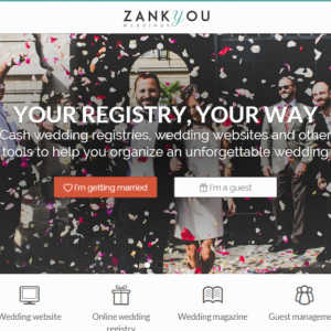 Online wedding registry Homepage