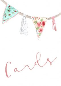 Pastel Bunting Cards