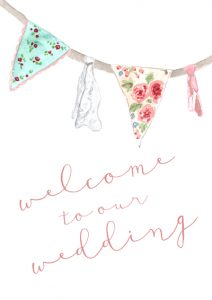 Pastel Bunting Sign-small