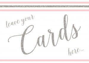 Pink Pastel Card Drop 5x7
