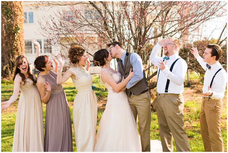 neutral wedding party