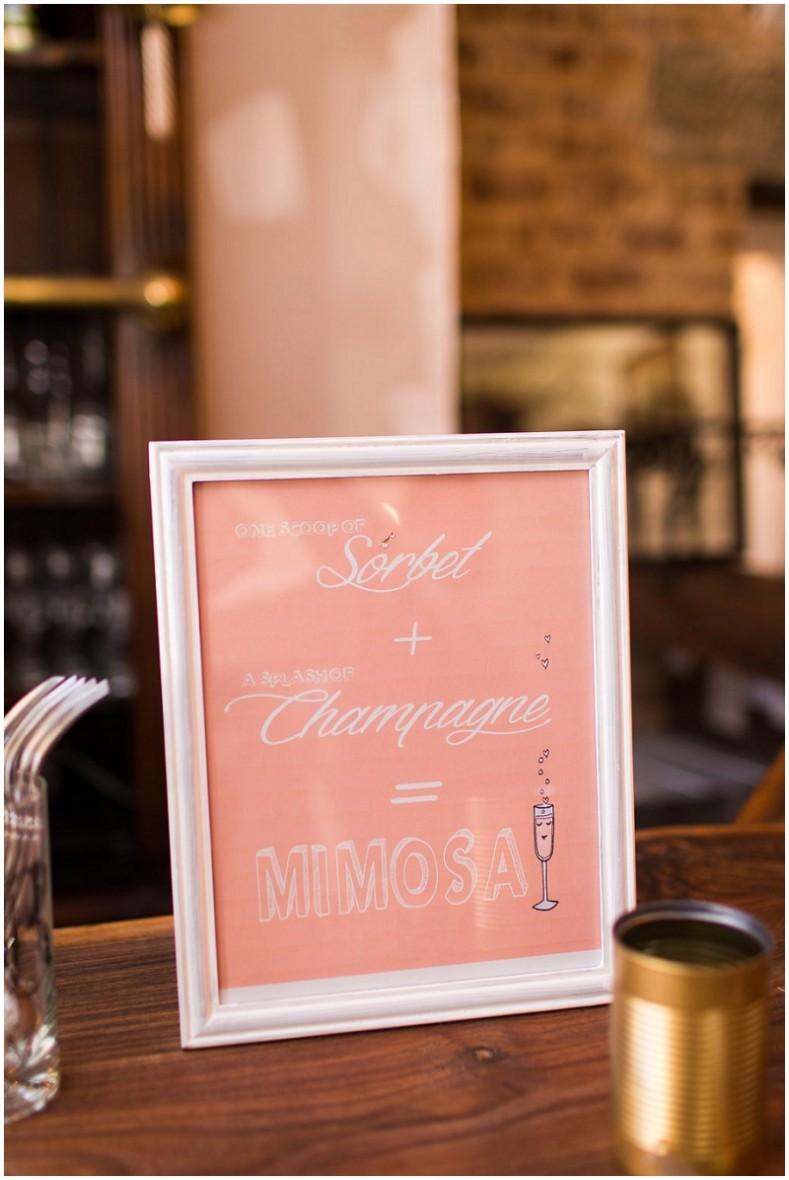 mimosa sign