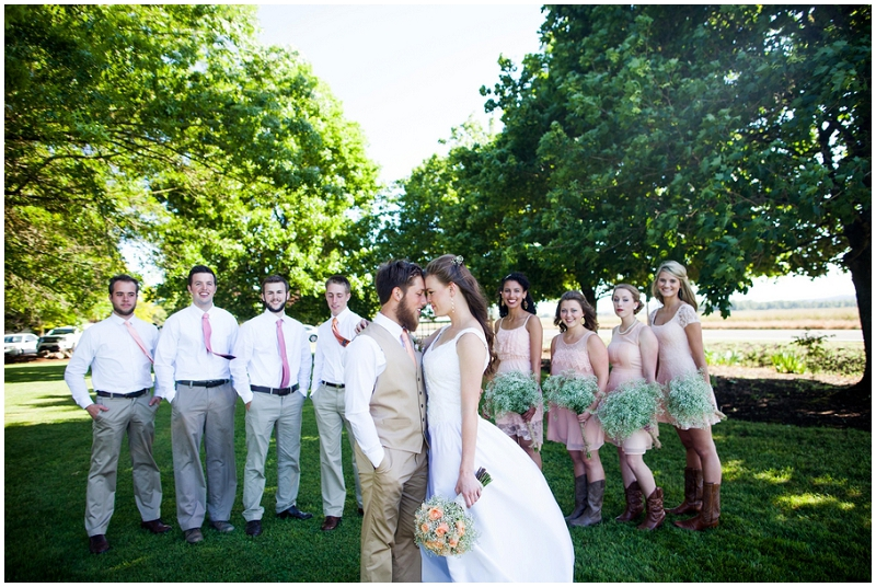 gray and blush wedding colors