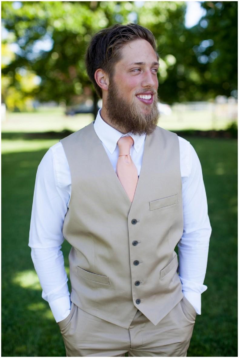 khaki groom attire