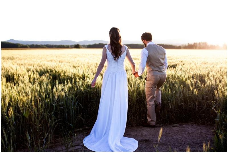 outdoor wedding field photos