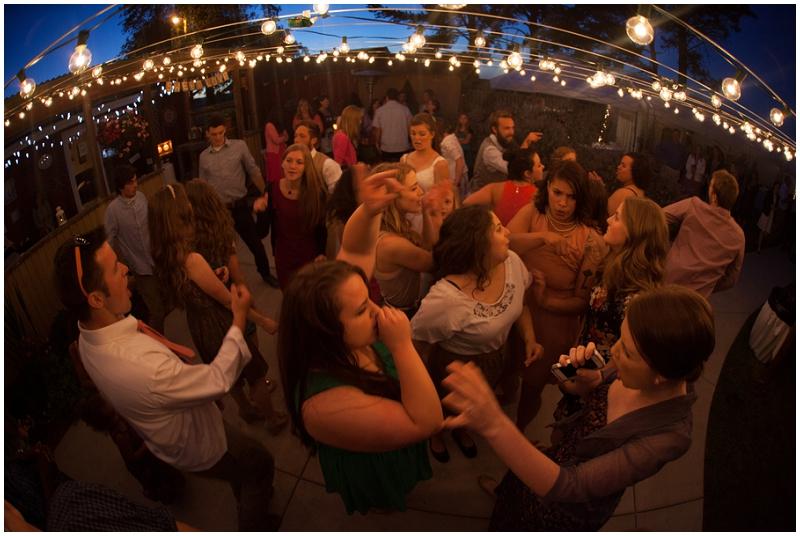 outdoor wedding reception dancing