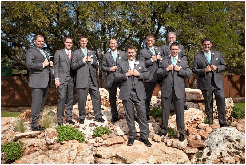 gray wedding tuxes