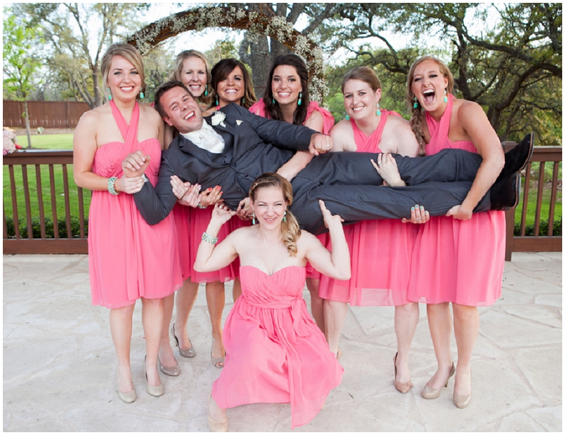 gray, pink and blue wedding